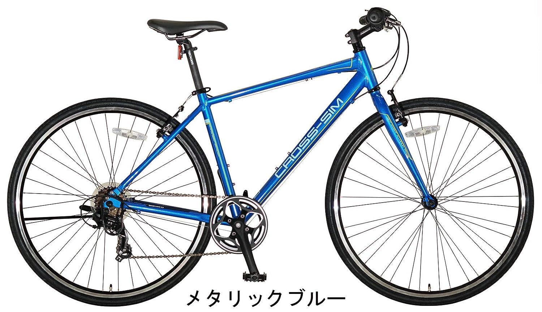 クロッシム 460mm アルミフレーム クロスバイク  メタリックブルー B07PHYQMPY