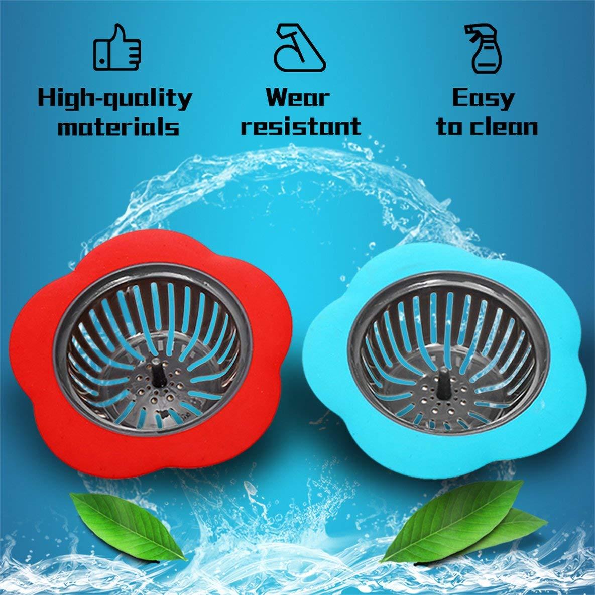 Noradtjcca Silicone Kitchen Strainer Shower Sink Drains Cover Sink Colander Sewer Filter Kitchen Accessories
