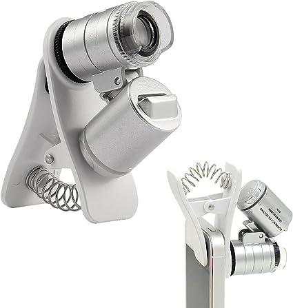 hnym-60 X Zoom Universal Telephone móvil portátil Clip Mini LED UV ...
