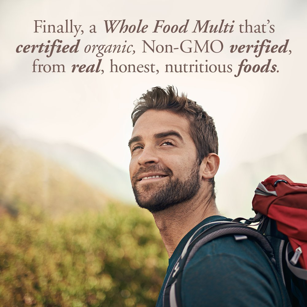 Garden of Life Multivitamin for Men - mykind Organic Men's Whole Food Vitamin Supplement, Vegan, 120 Tablets by Garden of Life (Image #3)