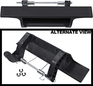 APDTY 133699 Tailgate Handle Fits 2004-2012 Nissan Titan (Plastic Handle Only With Spring & Pin; Repairs 90606-7S200, 906067S200)