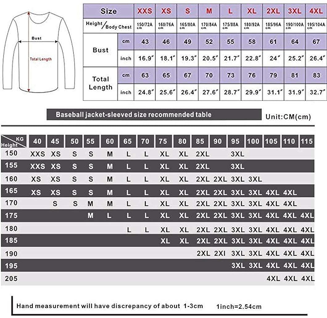Yaruiguan Unisex Casual Misfits Logo Gift Baseball Uniform Sweater Plus Velvet