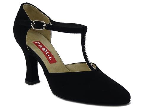 timeless design 48eda 078d4 Scarpa da Ballo Paoul, Modello Charleston in camoscio Nero e ...