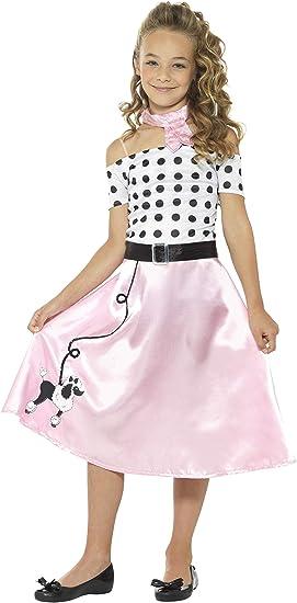 Smiffys-24668L Disfraz Falda Vuelo años 50, con Vestido ...