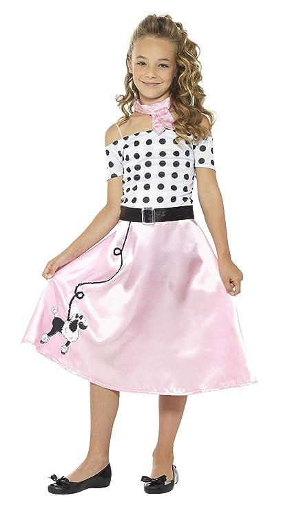 Smiffys-24668M Disfraz Falda Vuelo años 50, con Vestido ...