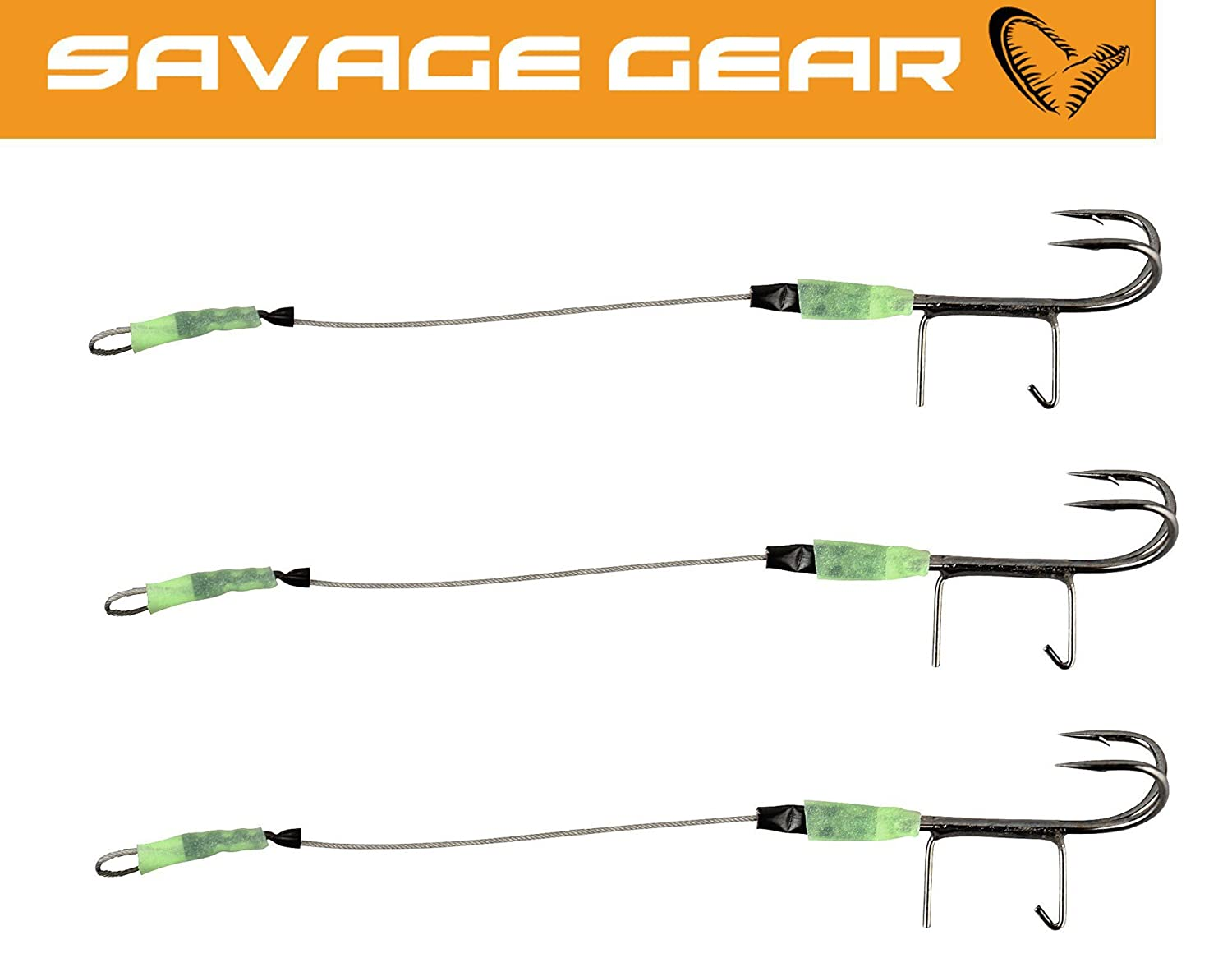 Savage Gear Twin Spike Double Hook Angsthaken für Gummifische Stinger