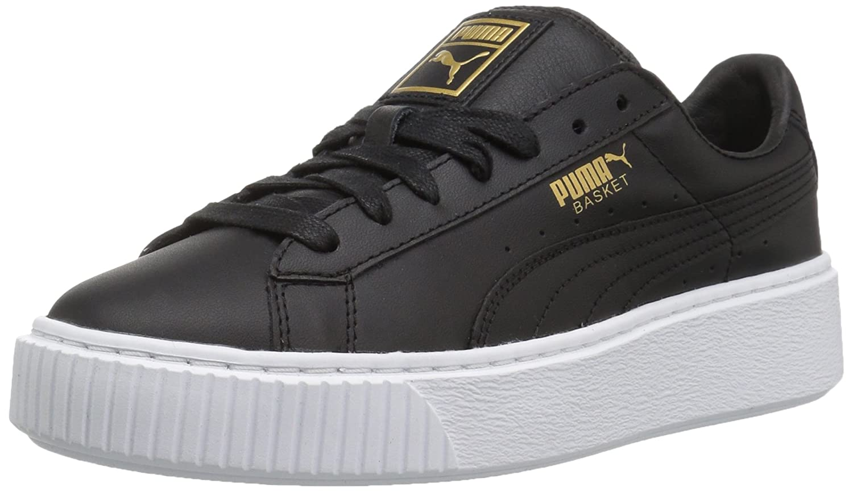 hot sale online 767a3 8086c PUMA Women's Basket Platform Core Running Shoes