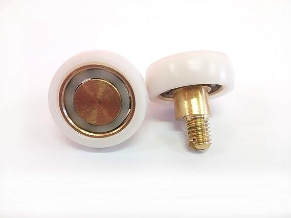 Repuesto de rodamientos para mampara de ducha para puertas correderas Kit de 2 piezas Mod 19 x 6 M5 Ecc: Amazon.es: Bricolaje y herramientas