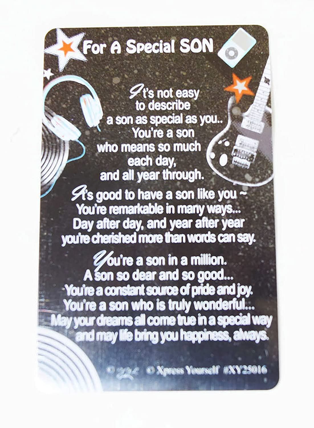 Special Son Keepsake Wallet Card Sentimental Message Him Birthday Family Gift Amazoncouk Office Products