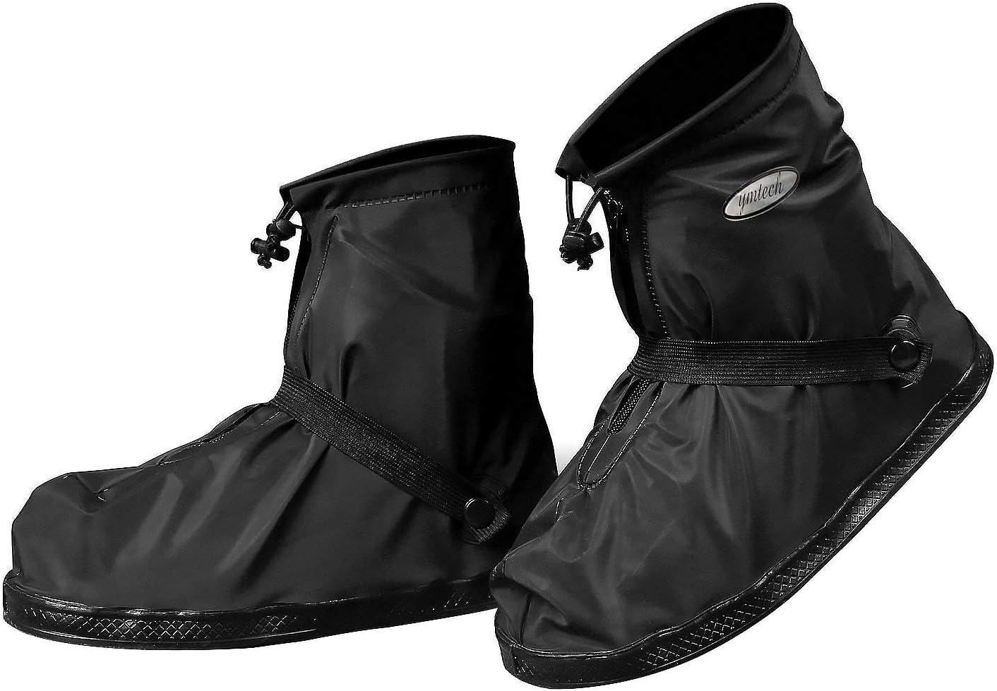 Cubiertas para zapatos para Motocicleta y Bicicleta YMTECH Impermeable y antideslizante Cubierta del zapato