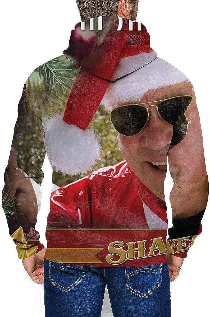 DABSON Shatner Claus The Christmas Mens Hoodie Jacket Black