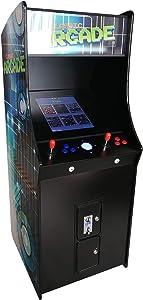 "Creative Arcades Full-Size Commercial Grade Cabinet Arcade Machine   Trackball   412 Classic Games   2 Sanwa Joysticks   2 Stools Included   22"" Screen   3-Year Warranty"
