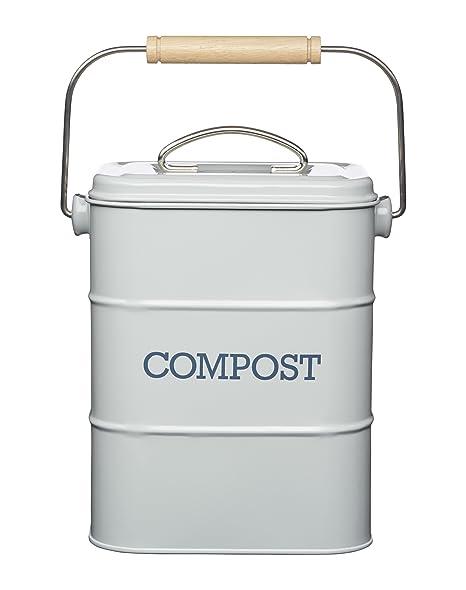 Amazon Com Kitchencraft Living Nostalgia Metal Kitchen Compost Bin