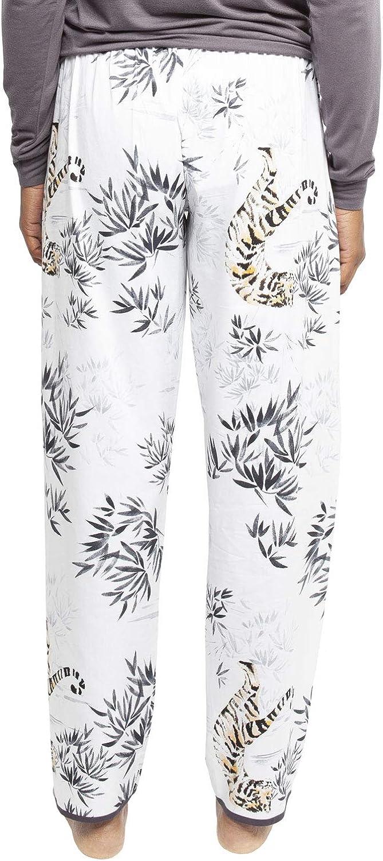 Cyberjammies 4344 Womens Willow White Tiger Print Cotton Pyjama Pant