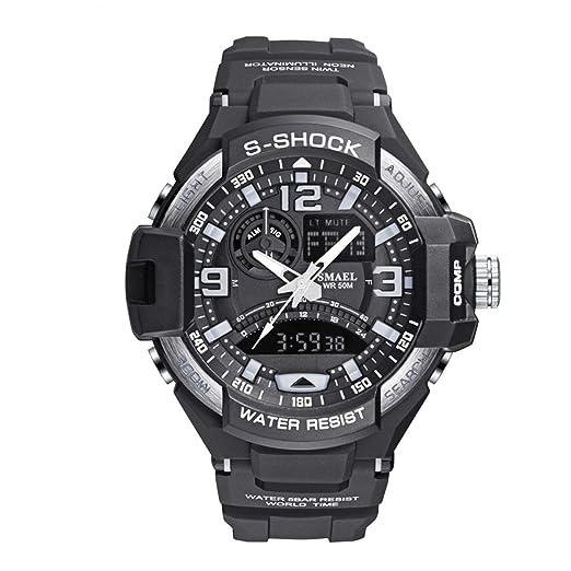 Daesar Relojes LED Reloj de Doble Pantalla Reloj Deportivo Reloj Impermeable Reloj Despertador Reloj de Hombre Cronógrafo Reloj Multifunción Relojes ...