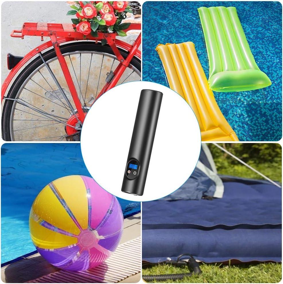 USB-Aufladung LED-Taschenlampe und drahtlose Luftpumpe InLoveArts Tragbare Reifenpumpe Schnurlos Fahrzeugpumpe f/ür Fahrradreifen Autoreifen Balls und Swimming Pool