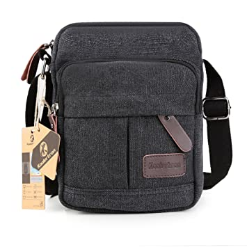 Amazon.com: Koolertron Vintage Canvas Crossbody Shoulder Bag ...