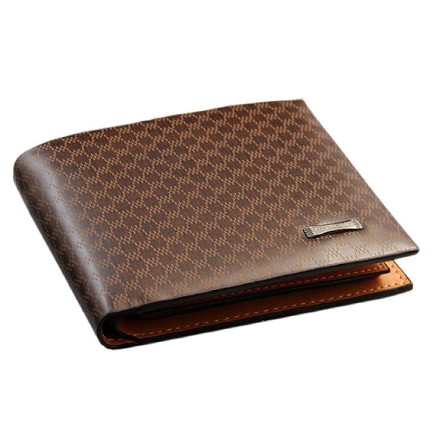 High Quality Mens Brown Genuine Leather Wallet with Credit Card Holder,Purse J
