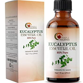 f159b47d9d64 100% Pure Eucalyptus Essential Oil for Diffuser and Aromatherapy Undiluted  Therapeutic Grade Premium Healing Antibacterial