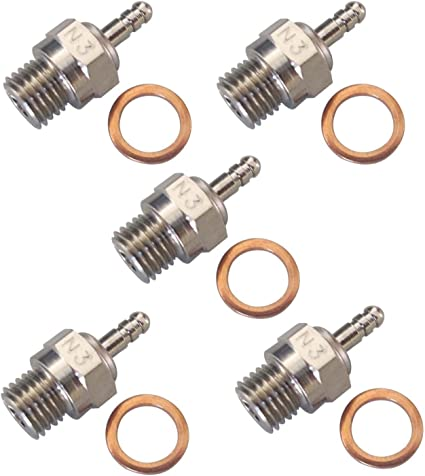pck of 10 pcs Hobbypower Spark Glow Plug Glow-Plug No.4 N4 Hot 70117 for RC HSP Nitro Engines Car Truck Traxxas