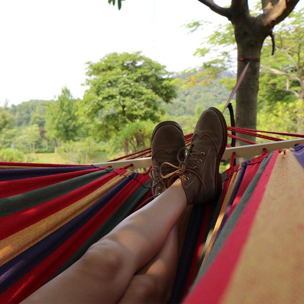 Camping Hängematte ANYOO HÄNGEMATTE_OUTDOOR BAUMWOLLE_MEHRPERSONEN 200_X 150_CM Camping & Outdoor