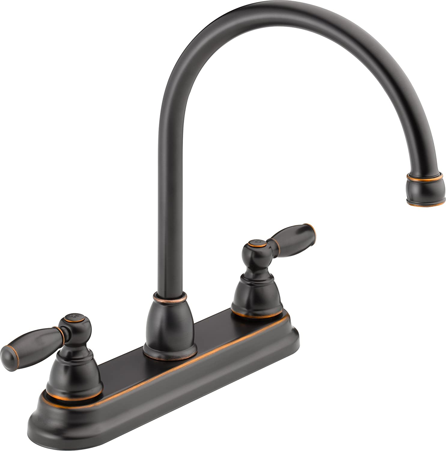 Peerless P299565LF-OB Apex Two Handle Kitchen Faucet, Oil Bronze