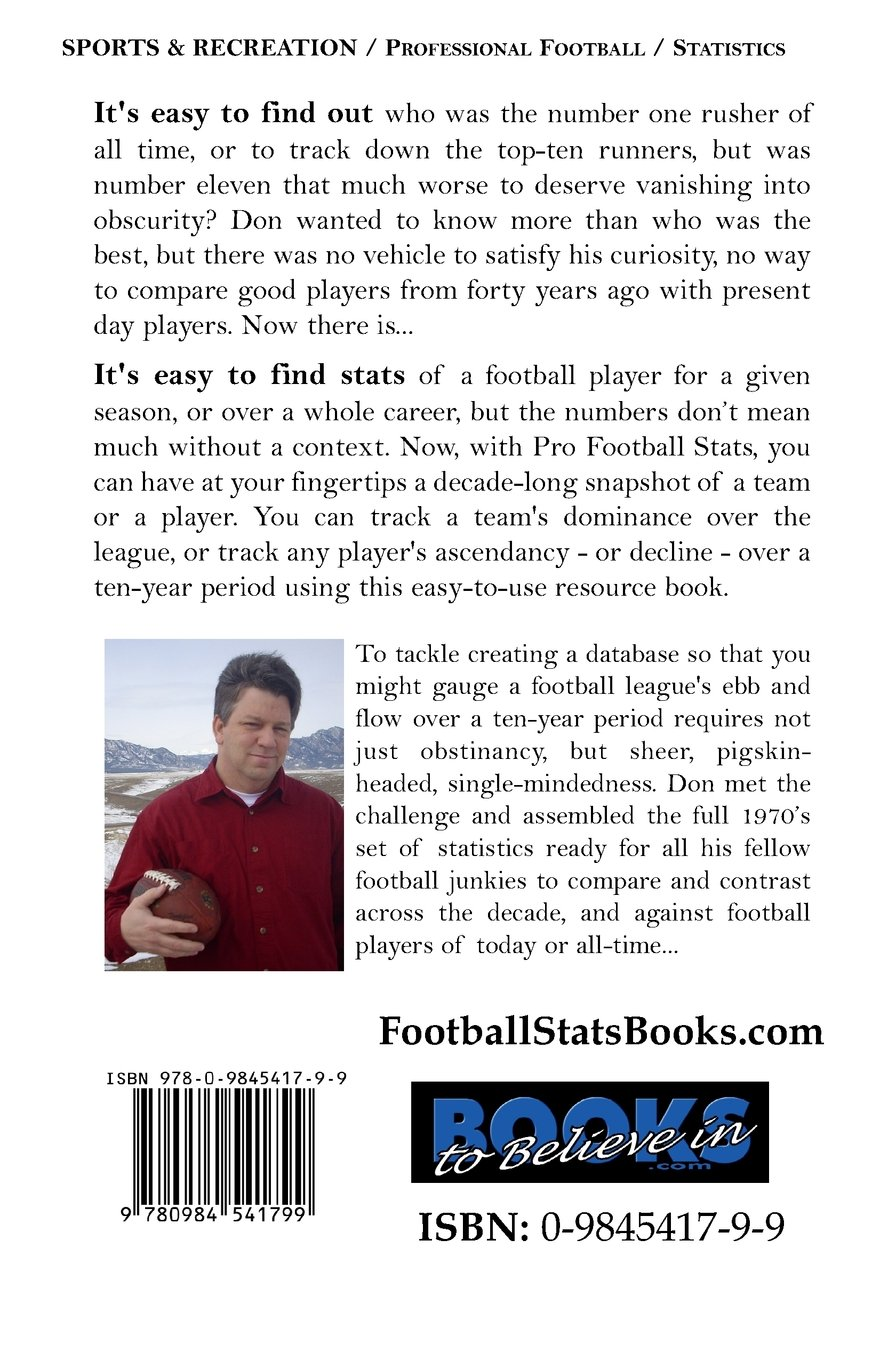 Pro Football Stats of the 70's - League: Don Nichols
