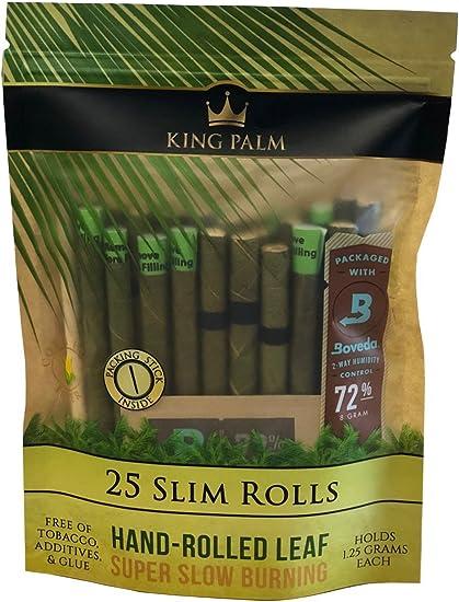 20 PacksKing Palm Natural Rolls WrapsMINI SIZE BOX