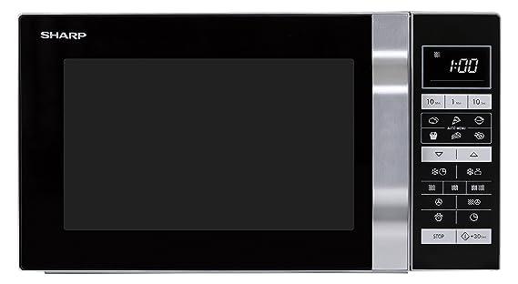 Sharp R 860S 3 In 1 Mikrowelle, Grill Und Heißluft / 25 L / 900 W / 49cm/  Programmautomatik / Gewicht  Und Zeitgesteuertes Auftauen / Edelstahl:  Amazon.de: ...