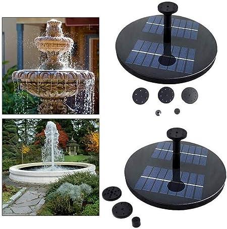 GW Fuente Solar Flotante Jardín Exterior Estanque Fuente de Agua Bomba Jardinería Estanque baño de Aves Sin batería: Amazon.es: Hogar