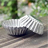 Chrysanthemum Heat Resistant Tart Tins Cake Cups Tart Pudding Jello Mold Mould 100pieces
