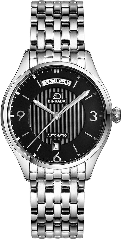 BINKADA 3ポインタ自動機械ブラックダイヤルメンズ腕時計# 705201 – 2 B01DZLVYLY