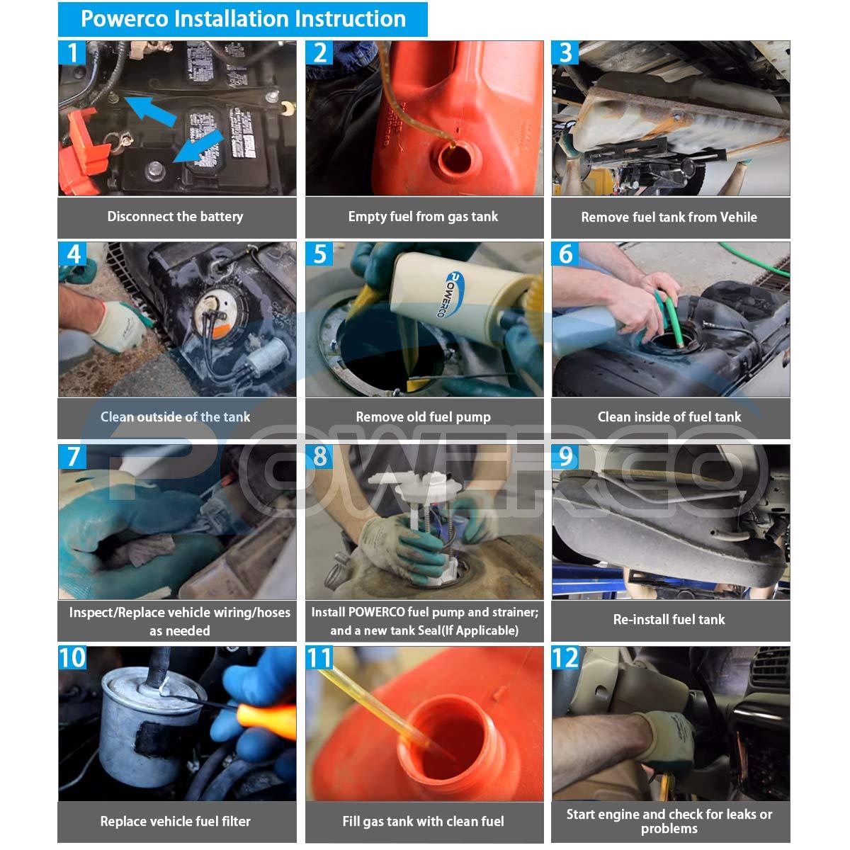 Amazon.com: POWERCO Gas Fuel Pump Assembly Replacement For 2004 2005 2006 2007 Dodge Durango 5.7 4.7 3.7 W/Sending Unit E7184M: Automotive