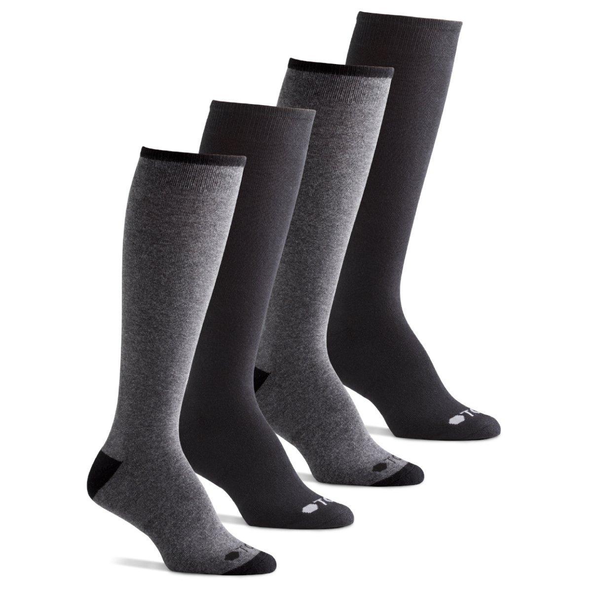 TCS Women's Premium Comfort Lifestyle Casual Knee High Socks - Charcoal/Black, Women's Shoe Size 6-10 (US)