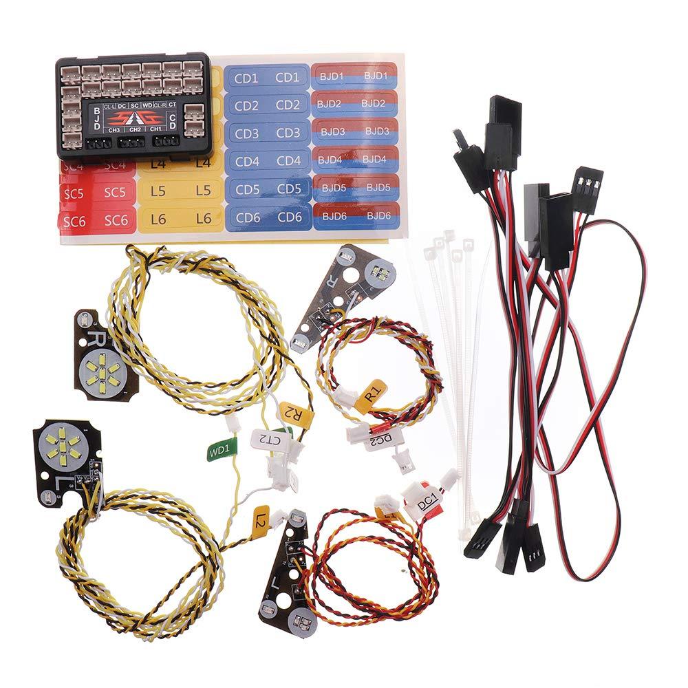 VIDOO Rc Car Parts Wheel Searchlight Und Car Done Light Für 1/10 Traxxas Trx4