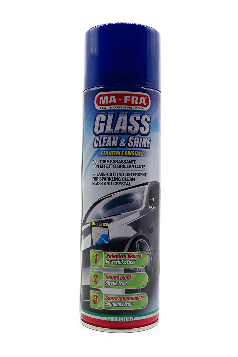 GLASS CLEAN&SHINE 500ml MA-FRA PULITORE SGRASSANTE CON EFFETTO BRILLANTANTE