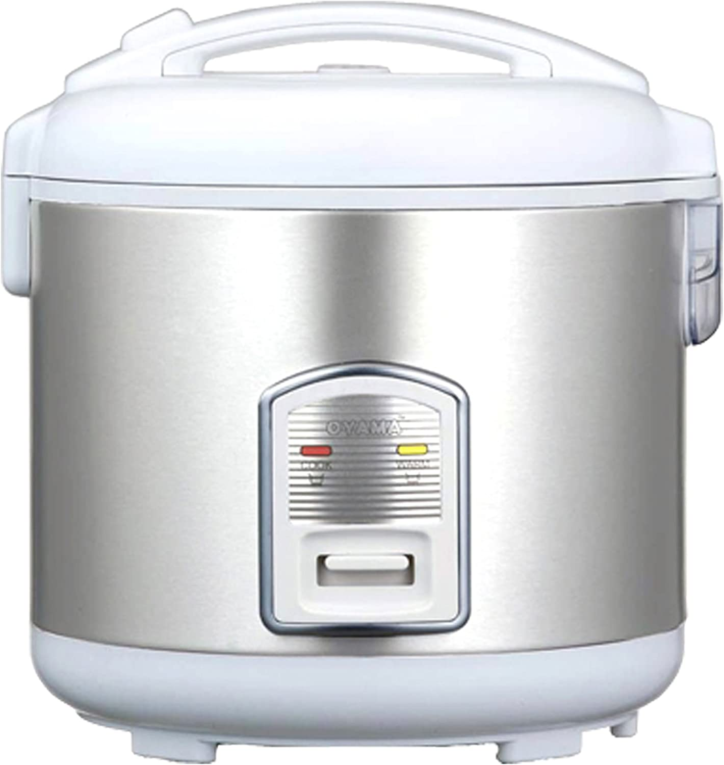 Oyama CFS-F18W 10 Cup Rice Cooker, Stainless White