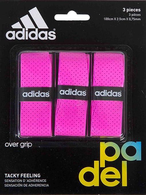 adidas Pádel OV - Set overgrip, Color Rosa, Talla única: Amazon.es: Deportes y aire libre