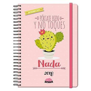 Dohe Muymummy - Agenda 2018 semana vista, 15 x 21 cm, color rosa