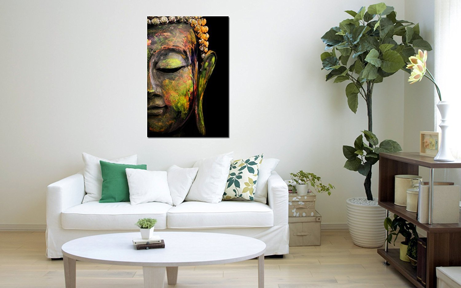 Buy Lord Buddha Canvas Paintings Large Size Unframed Rolled Canvas ...