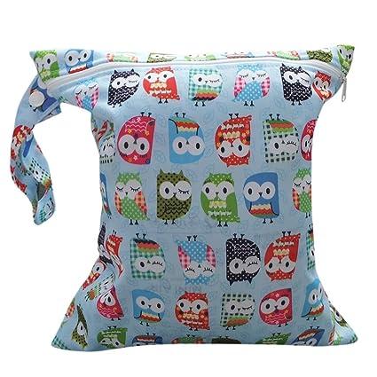 Xiton Niño Cremallera Impermeable del bebé de Tela Reutilizables Bolsa de Pañales (Colorido del Modelo