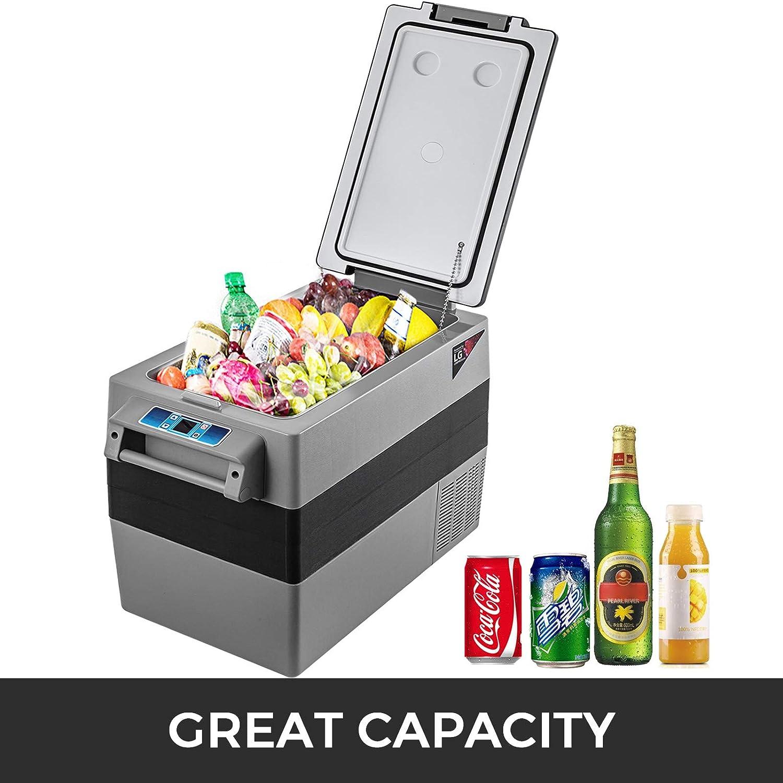 BuoQua Refrigerador para Coche 55 L Mini Caja del Congelador Caja Fresca Mini Frigor/ífico Coche Mini Nevera 20 a 10 Grados Cent/ígrados para Camping Caravanas Picnics Festivales