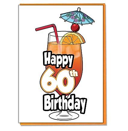 Tarjeta de felicitación de 60 cumpleaños para cóctel o ...