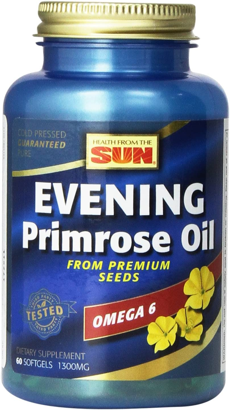 Health From The Sun Evening Primrose Oil 1300 Mg, 60-Count Pack of 2