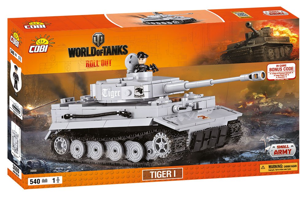 World of Tanks /3000/ TIGER I , 555 building bricks by Cobi by Small Army   B01F32YOVA