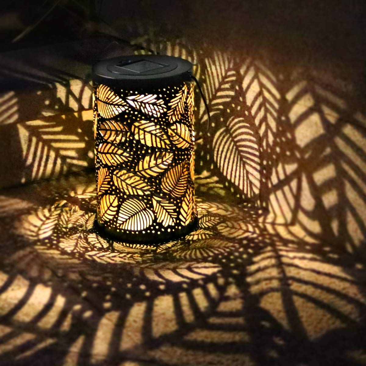 Outdoor Solar Lanterns Light, Outdoor Hanging Light - Patio Decorations Lights Garden Decor Outside Lights,Outside Patio Leaf Light