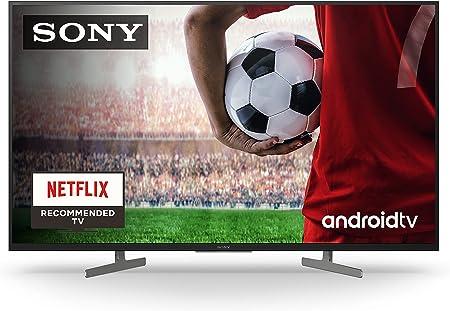 Sony KD-43XH8196 - HDR Android TV (procesador X1 4K HDR, Triluminos, X-Reality PRO, MotionFlow XR, Dolby Vision, Dolby Atmos, calibración automática caIMAN, control por voz), Compatible con Alexa