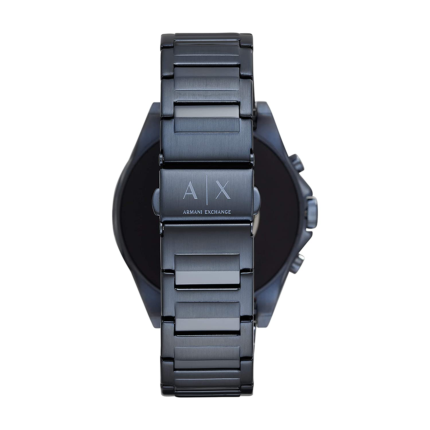 71de51adb2 Amazon.com: Armani Exchange Men's Smartwatch Touchscreen Watch with  Stainless-Steel-Plated Strap, Blue, 22 (Model: AXT2003): Watches