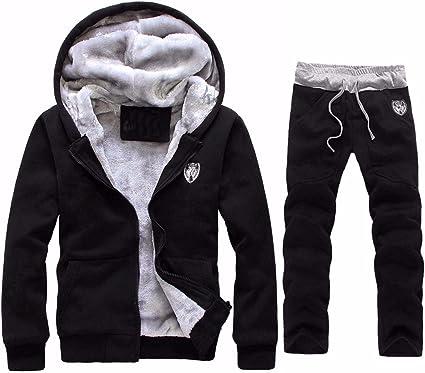 Mens New Sweatshirt Sweater Hooded Hoodie Jumper Patches Warm Fleece Size