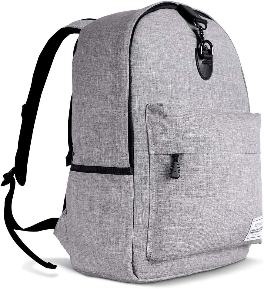 "XDesign Travel Laptop Backpack with Anti-theft Lock Up to 16"" Notebook - Grey"